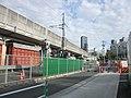 Construction stockyard of Chūō Shinkansen in Tōkaidō Shinkansen Shinagawa railway maintenancea yard.jpg