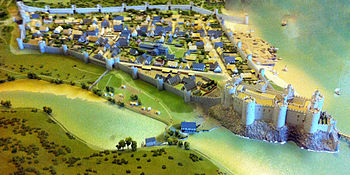Reconstruction of Conwy Castle