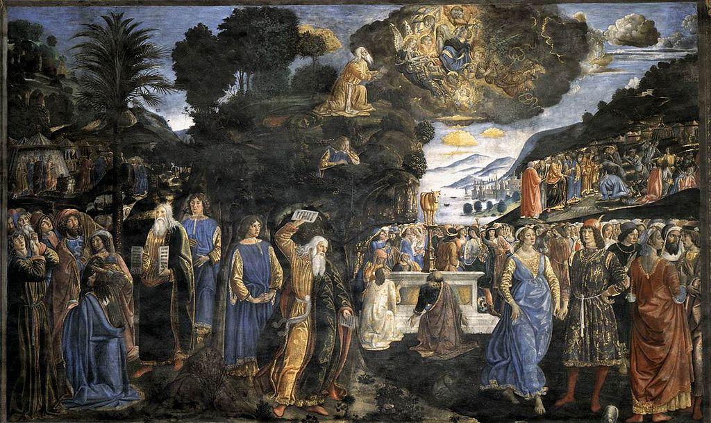 Cosimo rosselli le tavole della - Le tavole della legge ...