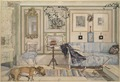 Cosy Corner. From A Home (26 watercolours) (Carl Larsson) - Nationalmuseum - 24210.tif