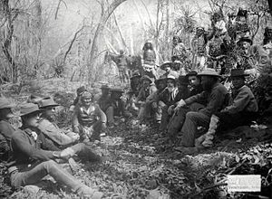 Samson L. Faison - Council Between Gen. Crook and Geronimo in Mexico, March 1886. Lt. Faison is seated far left in foreground.