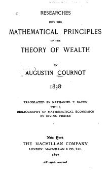 Cournot Theory of Wealth (1838).djvu
