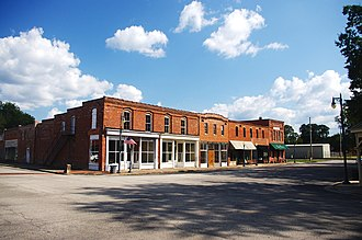 Courtland, Alabama - Buildings along the Town Square (College Street)