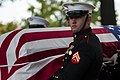Cpl. Jerry Berning, body bearer from Marine Barracks Washington, D.C., (17455687910).jpg