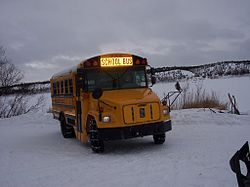 School bus service at Crooked Creek