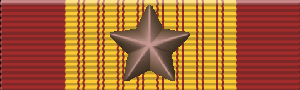 Service ribbon - Image: Cross of Gallantry with Bronze Star (South Vietnam)