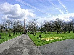 The obelisk in Crumpsall Park