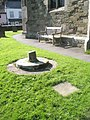 Curious circular base within Church Stretton Churchyard - geograph.org.uk - 1447930.jpg