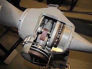 Constant-speed propeller - Cutaway constant-speed propeller hub