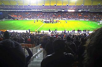Robert F. Kennedy Memorial Stadium - D.C. United after their win in the 2004 MLS Eastern Conference finals