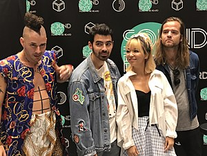 DNCE - The band in Bangkok, 2017