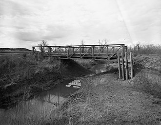 National Register of Historic Places listings in Crook County, Wyoming - Image: DXN Bridge over Missouri River