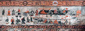 Emperor Huan of Han - An Eastern Han (25-220 AD) mural of a banquet scene, from the Dahuting Tomb (Chinese: 打虎亭汉墓, Pinyin: Dahuting Han mu) of Zhengzhou, Henan province, China