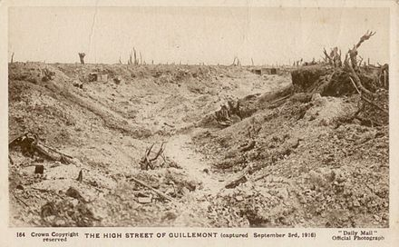 The High Street of Guillemont, 1916 Daily Mail Postcard -The High Street of Guillemont.jpg