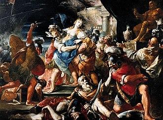 Giovanni Gioseffo dal Sole - Giovanni Gioseffo dal Sole, Death of Priam, c.1680.