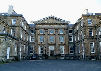 Dalkeith Palace - The south front of Dalkeith Palace in 2011, showing pilasters and pediment.