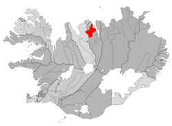 Location of the Municipality of Dalvíkurbyggð