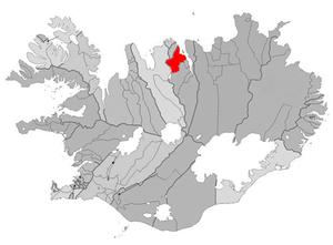 Dalvík - Image: Dalvikurbyggd map