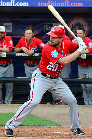 Daniel Murphy (baseball) - Murphy batting for the Washington Nationals in 2016 spring training