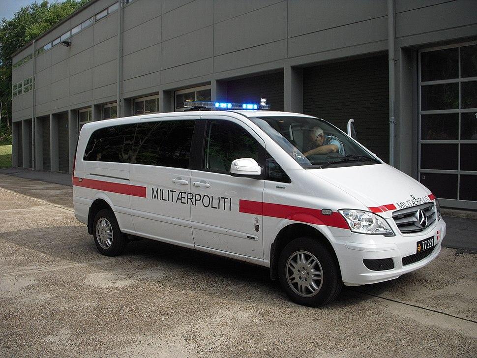 Danish military police Mercedes