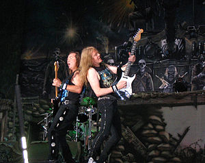 Dave Murray and Janick Gers of Iron Maiden