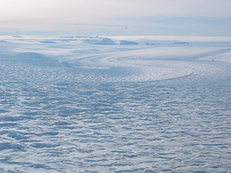 Transantarctic Mountains - David Glacier with the Drygalski Ice Tongue in the far distance