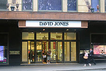10e3a5affb Elizabeth Street entrance in Sydney. David Jones ...