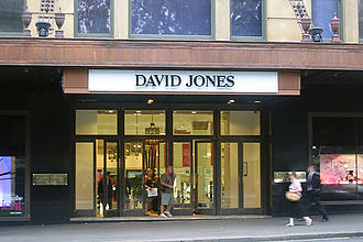 David Jones Limited - Elizabeth Street entrance in Sydney