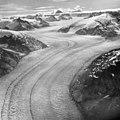 Dawes Glacier, tidewater glacier with thin medial moraines, August 23, 1964 (GLACIERS 5380).jpg