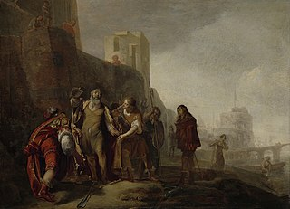 The legates of Alexander the Great investing the gardener Abdalonymus with the insignia of the kingship of Sidon