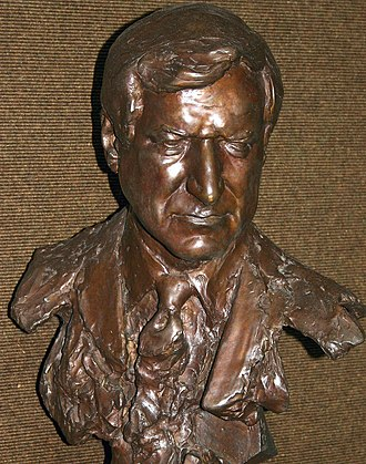 Dean Smith - Bust of Dean Smith at the Dean Smith Center. Photo credit: Rob Goldberg