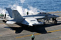 Defense.gov News Photo 110129-N-7004H-071 - An EA-18G Growler assigned to Electronic Attack Squadron 141 prepares to take off from the aircraft carrier USS George H.W. Bush CVN 77 . The.jpg