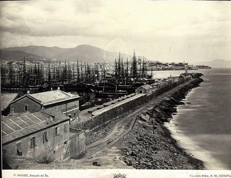 File:Degoix, Celestino (floruit 1860-1890) - Molo di Genova.jpg