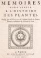 Denis Dodart Mémoires Histoire des plantes - page titre.png