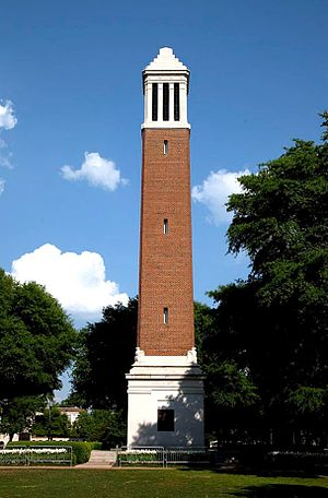 History of the University of Alabama - Denny Chimes, built in honor of President Denny