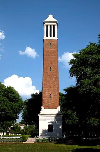 University of Alabama Quad - Denny Chimes on the Quad