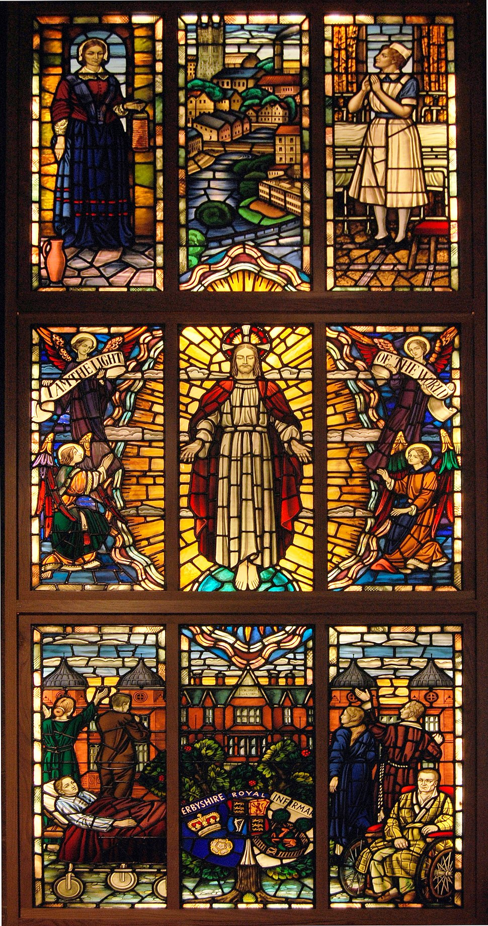 Derby DRI stained glass window at St Peters squared