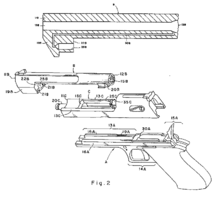 Dessin technique éclaté du Desert Eagle