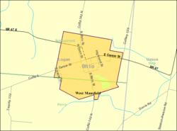 Mansfield Ohio Zip Code Map.West Mansfield Ohio Wikipedia