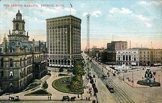 Campus Martius Park - Campus Martius in 1914