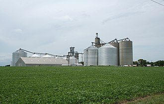 East Bend Township, Champaign County, Illinois - Image: Dewey Illinois grain elevators
