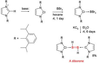 Organoboron chemistry - Diborene synthesis Wang 2007