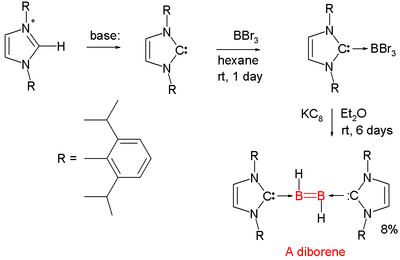 Diborene synthesis Wang 2007
