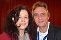 Die!!! Weihnachtsfeier 2013, 592 Echte Freunde, vertreten durch Emily Winter und Pit Schwaar, gegen Schluss einer gelungenen Veranstaltung.jpg