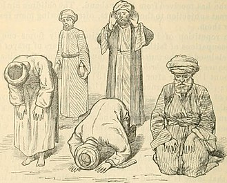 Rakat - Image depicting various prescribed movements of a Muslim prayer
