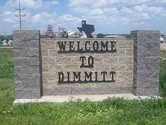 Dimmitt, Texas - Image: Dimmitt, TX, welcome sign IMG 4819
