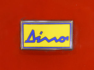 Dino (automobile) - Image: Dino badge