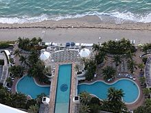 Pools And Beach At Diplomat Resort Spa View From 34th Floor