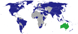 Visa requirements for Australian citizens - Diplomatic missions of Australia