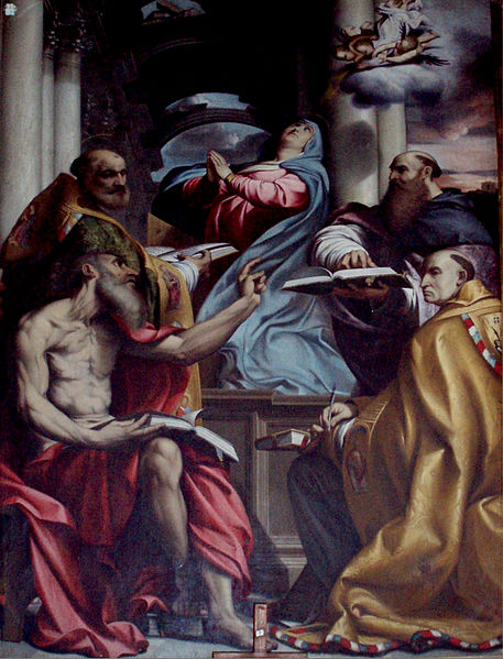 File:Disputa sull'Immacolata Concezione - Agostino Carracci (or Annibale?) after Pordenone.jpg